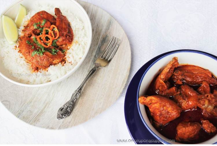 Spicy Tandoori Chicken Curry -- it's fiery, it's red, it's deliciously addictive