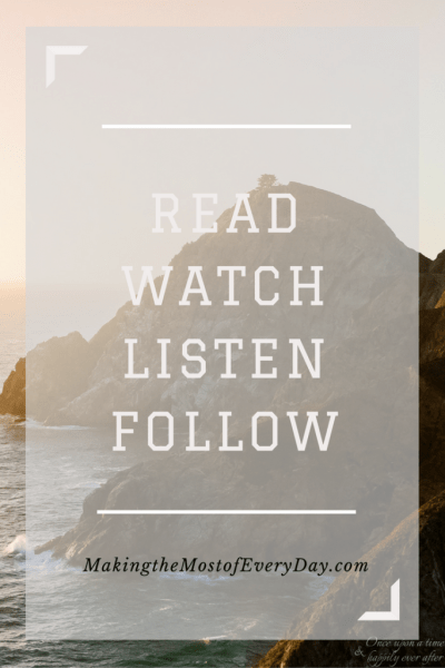 Read, Watch, Listen, Follow 10.14.16