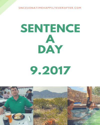 Sentence a Day, 9.2017