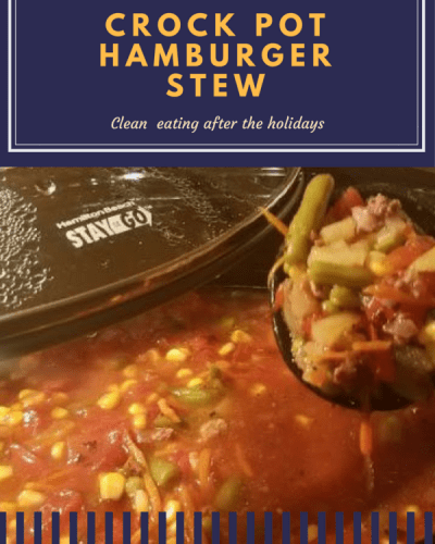 Tasty Tuesday:  Weight Watchers Crock Pot Hamburger Stew