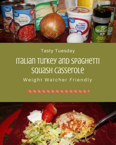 Tasty Tuesday:  Italian Turkey and Spaghetti Squash Casserole
