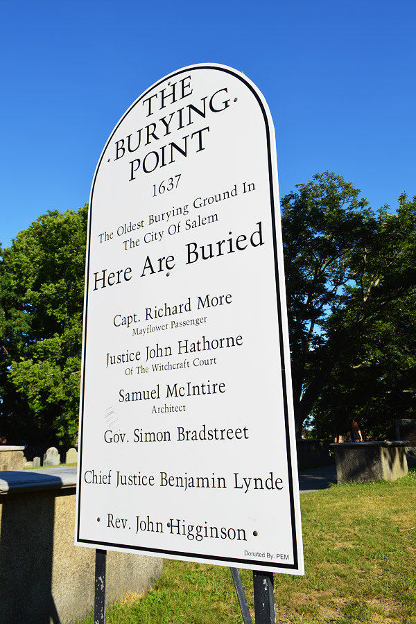 Old Burying Point cemetery Salem