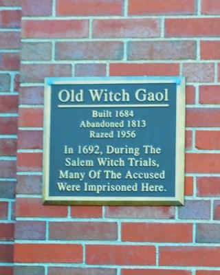 Salem Witch Trials old jail gaol dungeon