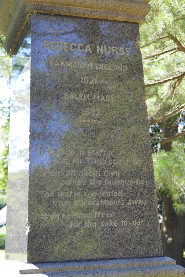 Rebecca Nurse grave marker monument