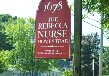 Rebecca Nurse Homestead sign
