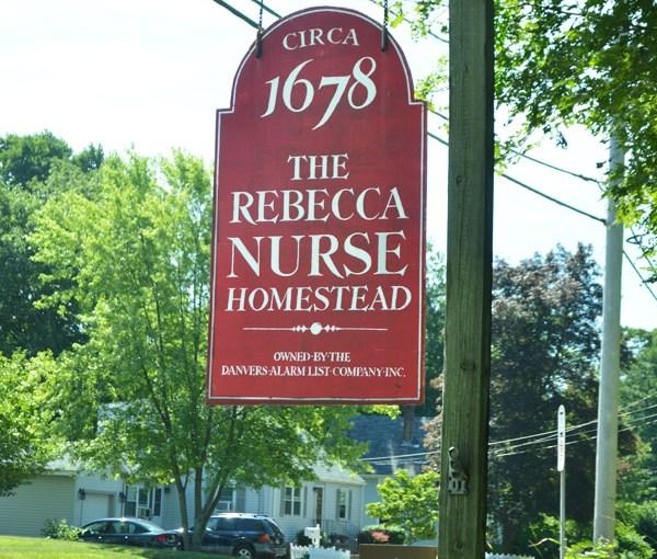 Rebecca Nurse Homestead sign
