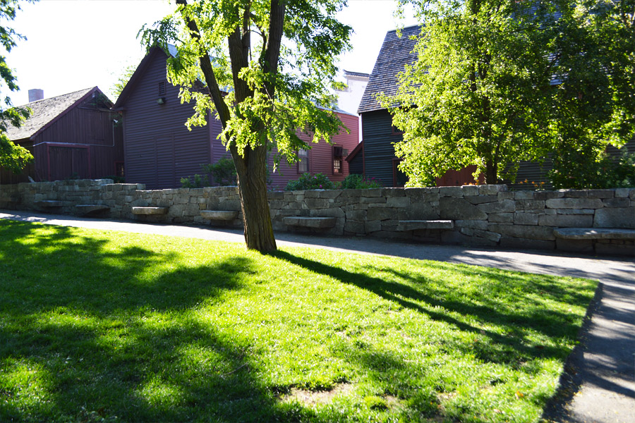 Salem Witch Trials Memorial benches