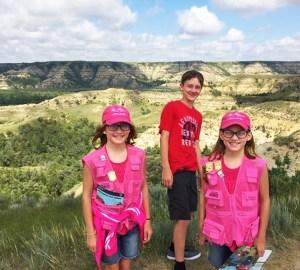 Junior Ranger kids Teddy Roosevelt NP Badlands