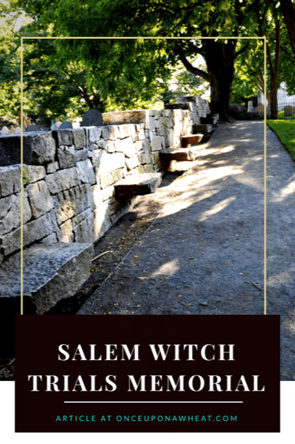 Salem Witch Trials Memorial Pin