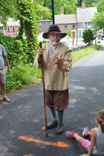 Pilgrim Leo Martin in Plymouth
