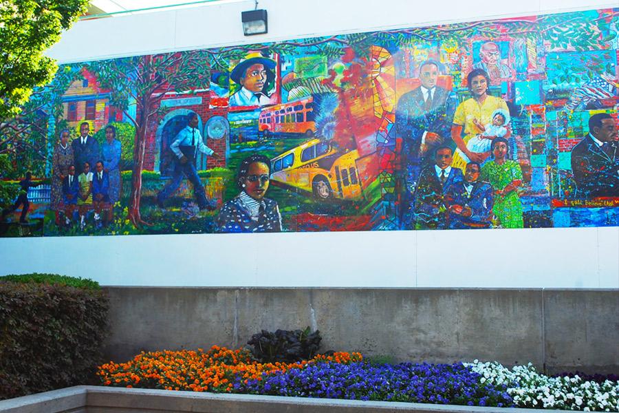 MLK Jr National Historic Park mural
