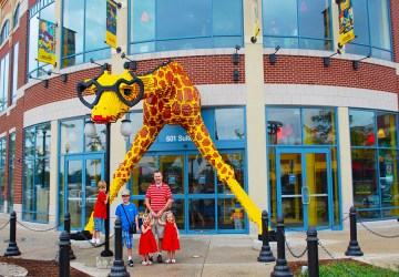 Legoland Discovery Center Chicago giraffe