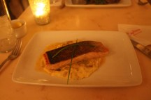 Pan-seared Salmon on Leek Fondue