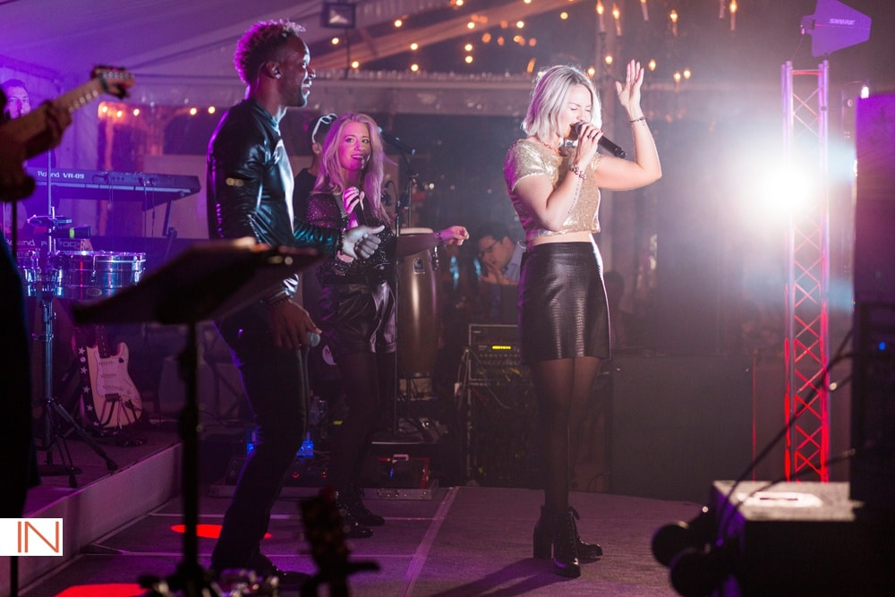 mannequin band performs at steamboat wedding