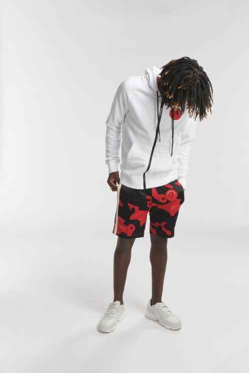 HIPO TRACK SHORTS CAMO RED O3W ONCE WE WERE WARRIORS