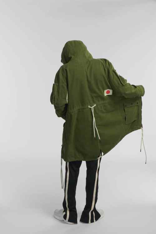para parka jacket army green o3w once we were warriors
