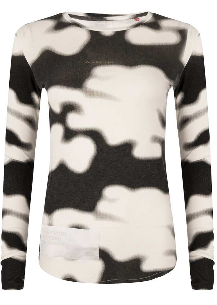 Rumi tee white camo print once we were warriors