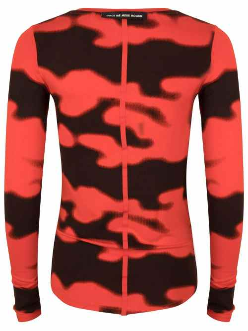 rumi tee fiery red camo print once we were warriors