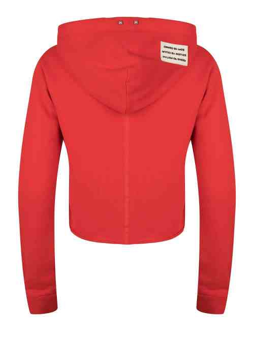 TAMARI CROPPED HOODIE WOMEN RED ONCE WE WERE WARRIORS