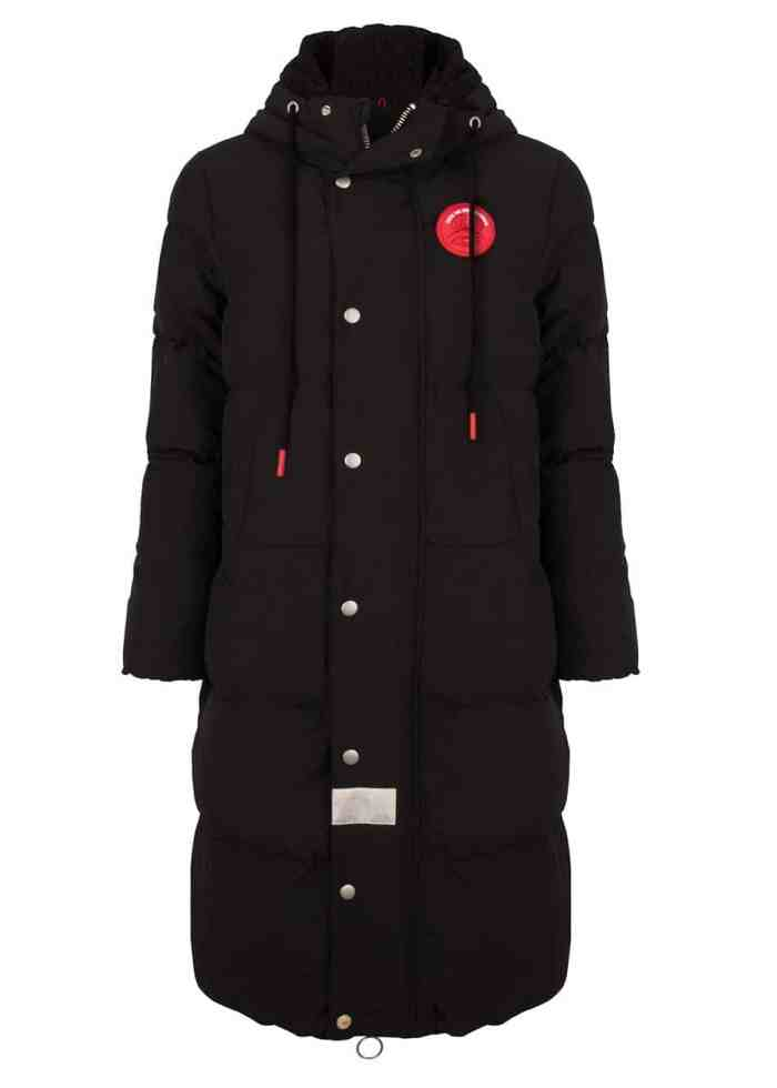 HIDE SLEEPINGBAG PUFFER JACKET BLACK WINTERCOAT