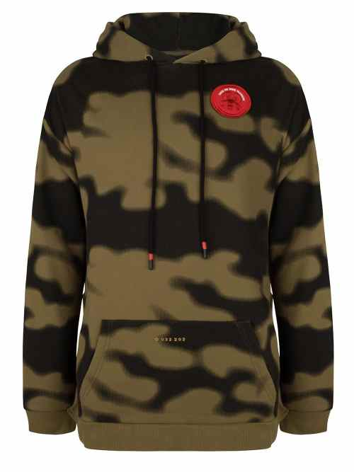 SONI CAMO HOODIE OLIVE GREEN ONCE WE WERE WARRIORS