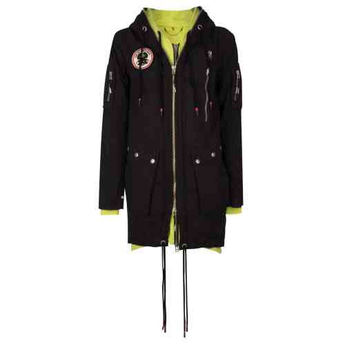 PARA2 PARKA JACKET BLACK ONCE WE WERE WARRIORS