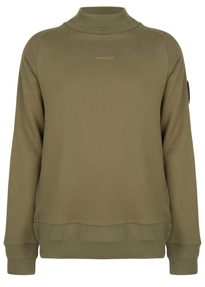 hikon crewneck olive green once we were warriors