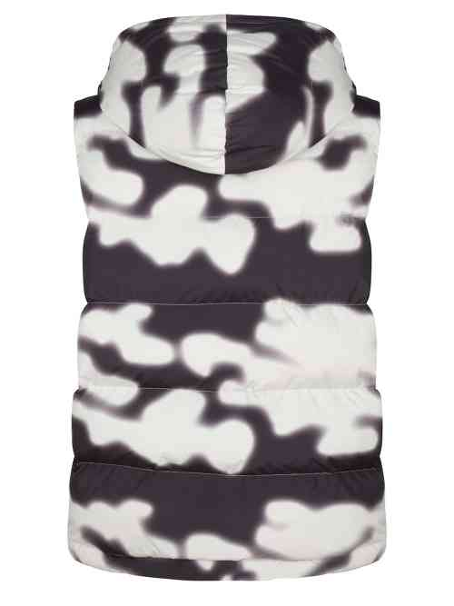RYU LONGLINE PUFFER BODY JACKET ANTIQUE WHITE CAMO ONCE WE WERE WARRIORS
