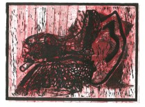 """""""The Inner Ear."""" Relief with Collagraph."""
