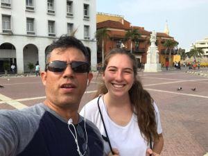 Gabriella tours Cartagena with Carlos