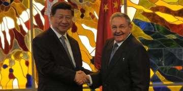 Presidentes de China y Cuba