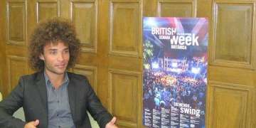 Rhys Patrick, event organizer and head of the Political and Communication Section of the British embassy in Havana.