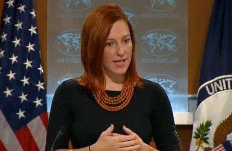 Jen Psaki, vocera del Departamento de Estado norteamericano