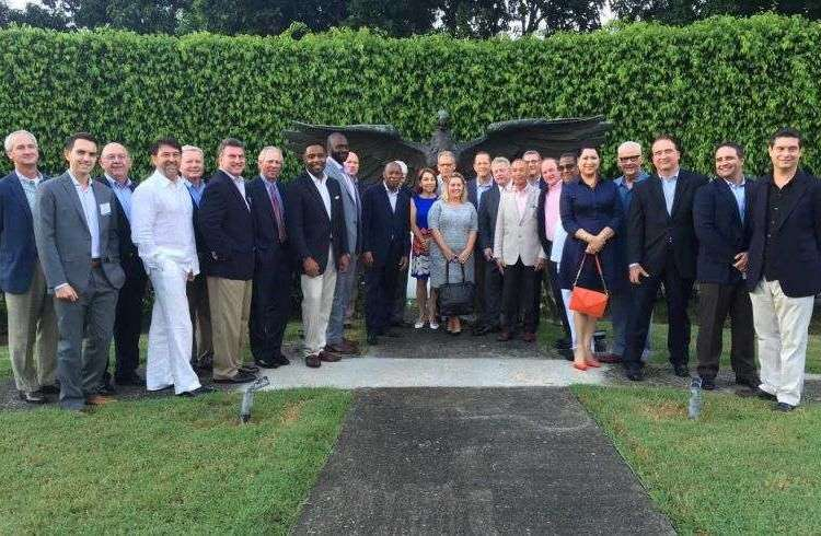 Sylvester Turner and his delegation with Jeffrey DeLaurentis in Havana. Photo courtesy of interviewee.