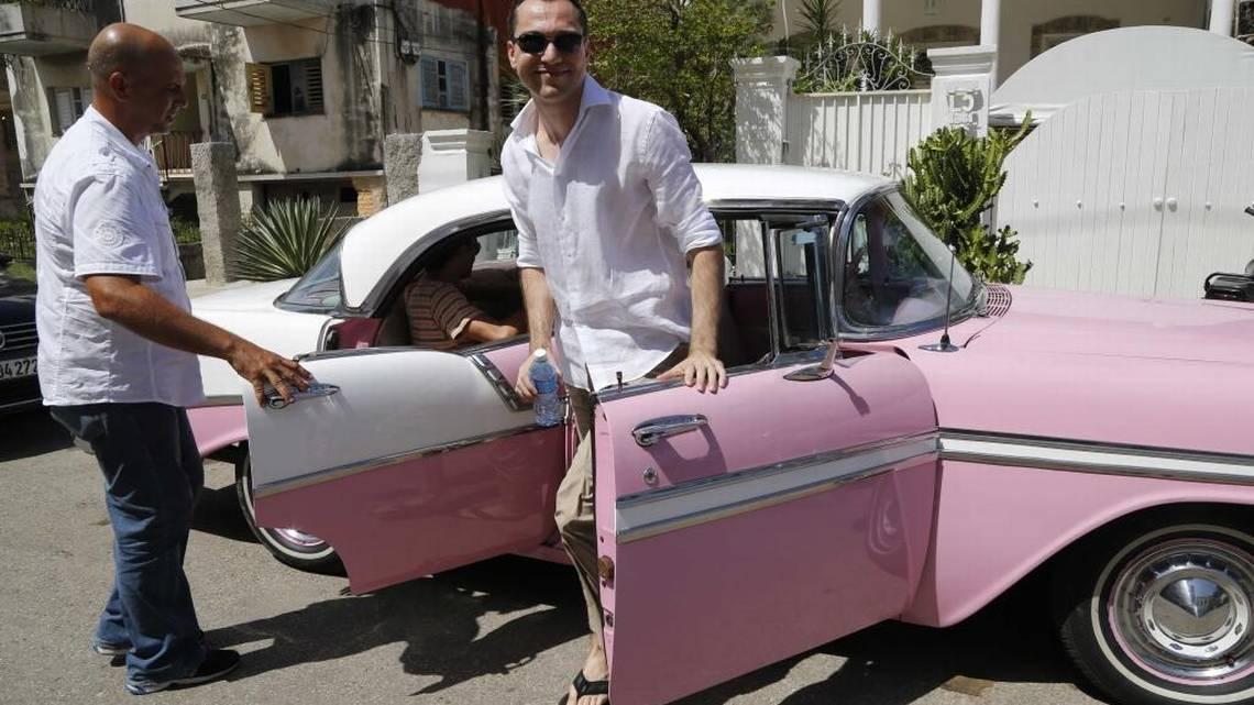 The co-founder of the Airbnb digital platform, Nathan Blecharczyk, in Havana, in June 2015. Photo: Desmond Boylan/AP.