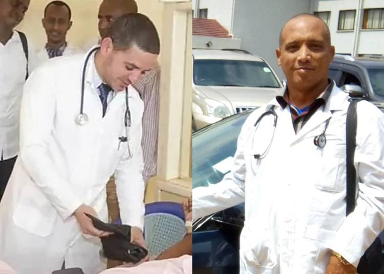 Doctors Landy Rodríguez (left) and Assel Herrera, allegedly kidnapped this Friday morning by the extremist group Al Shabab.