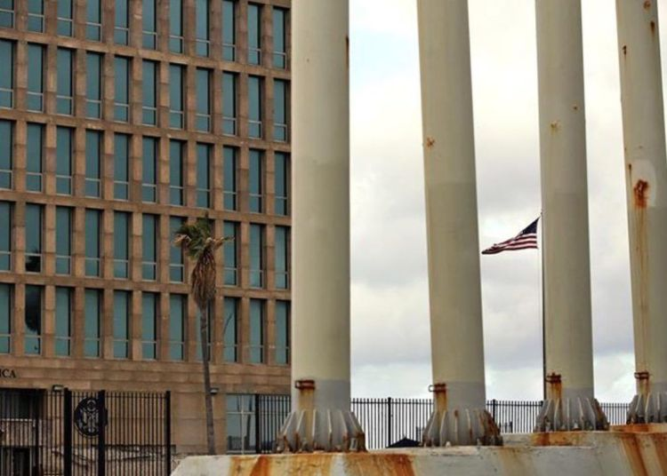 Embassy of the United States in Havana. Photo: Alejandro Ernesto / EFE / Archive.
