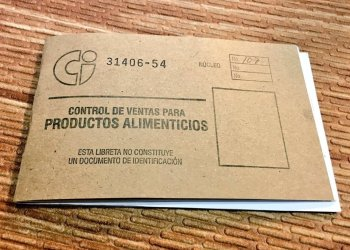 Cuba's ration book. Photo: @SashaEats / Twitter.
