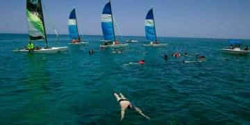 Tourists snorkeling at Varadero beach, Cuba. Photo: Ismael Francisco / AP.