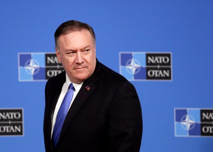 Secretary of State Mike Pompeo during a NATO meeting in Brussels on Wednesday. Photo: EFE / EPA / OLIVIER HOSLET