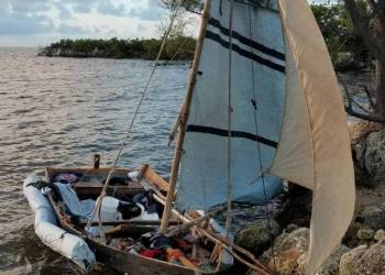 Cuban migrants' raft found in the Florida Keys on November 7, 2019. Photo: Office of the U.S. Customs and Border Protection / the Nuevo Herald.