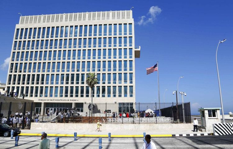 U.S. Embassy in Havana. Photo: Desmond Boylan / AP.