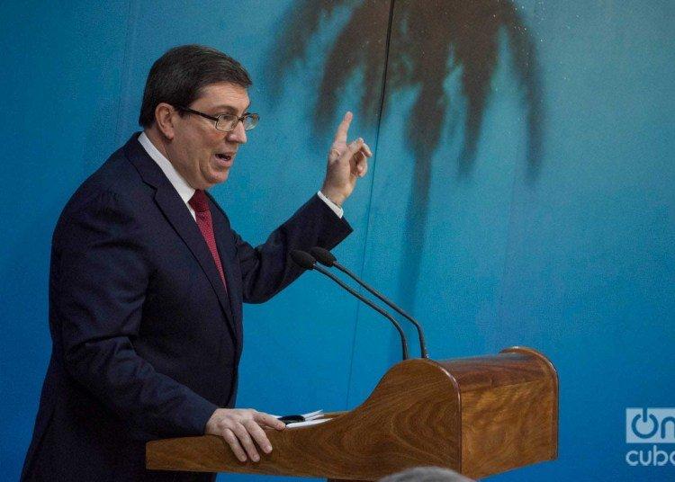 Cuban Foreign Minister Bruno Rodríguez Parrilla gives press conference in Havana. Photo: Otmaro Rodríguez / Archive.