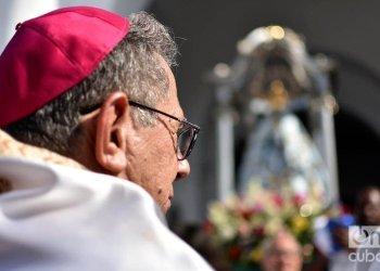 Juan de la Caridad García Rodríguez, new cardinal of the Catholic Church in Cuba, participates in the procession of the Our Lady of Regla, in Havana, on September 7, 2019. Photo: Otmaro Rodríguez.