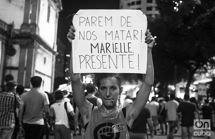 """""""Paren de matanos"""". Foto: Nicolás Cabrera."""