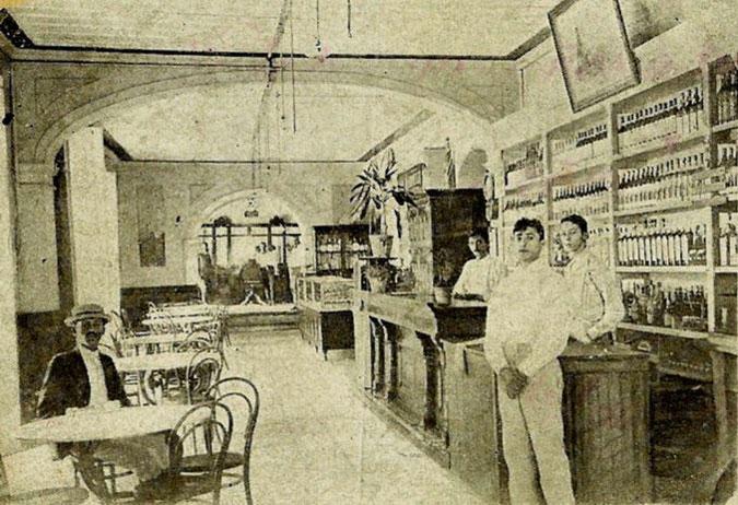 Bar del hotel Venus, donde presumiblemente fue bautizado el Daiquirí. Foto: Archivo de Ignacio Fernández Díaz.