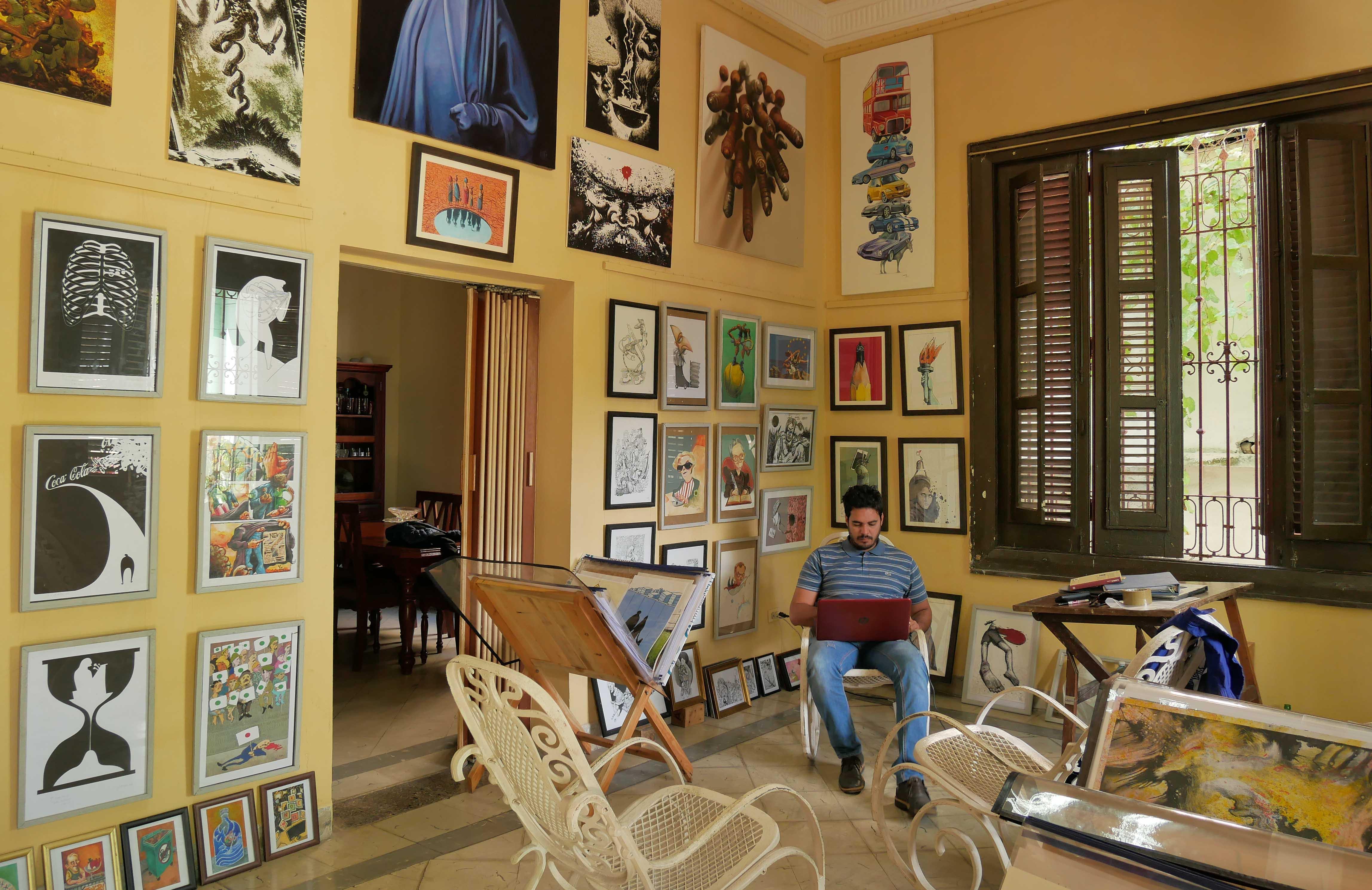 Michel Moro en La Ubre. Foto: Gabriela Mejías.