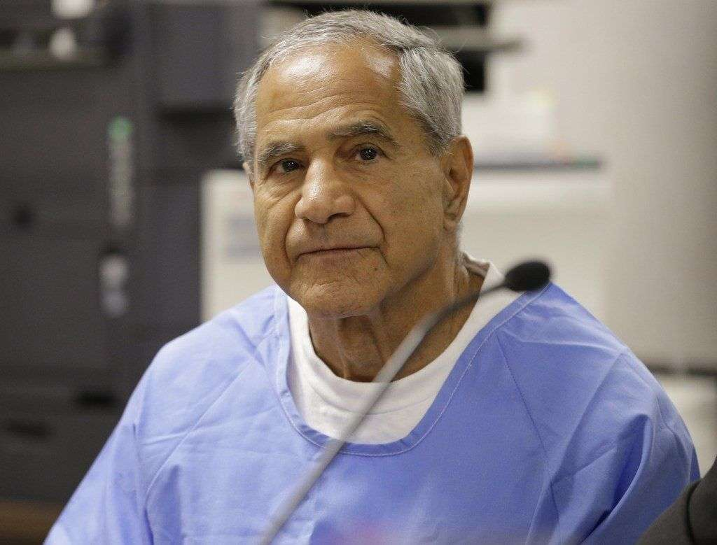 Sirhan Sirhan during a parole hearing Wednesday, Feb. 10, 2016, at the Richard J. Donovan Correctional Facility in San Diego. (AP Photo/Gregory Bull, Pool)