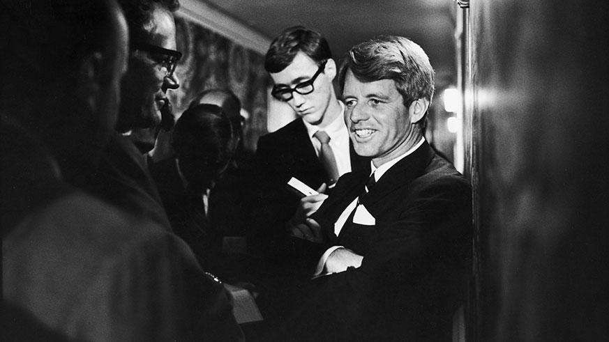 Robert Kennedy at the Ambassador Hotel on the night of his death, June 5, 1968. (Photo: Getty Images)
