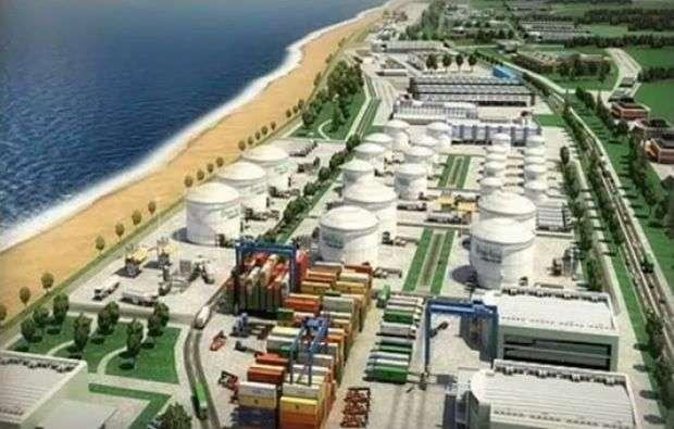 Maqueta de proyecto del puerto de Mariel